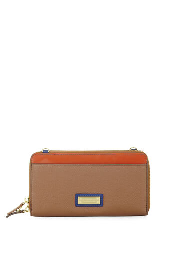 Gianna Color-Blocked Leather Cross-Body Wallet