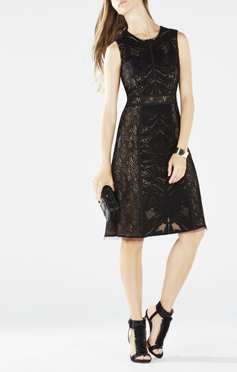 Dariella Abstract Embroidered Dress