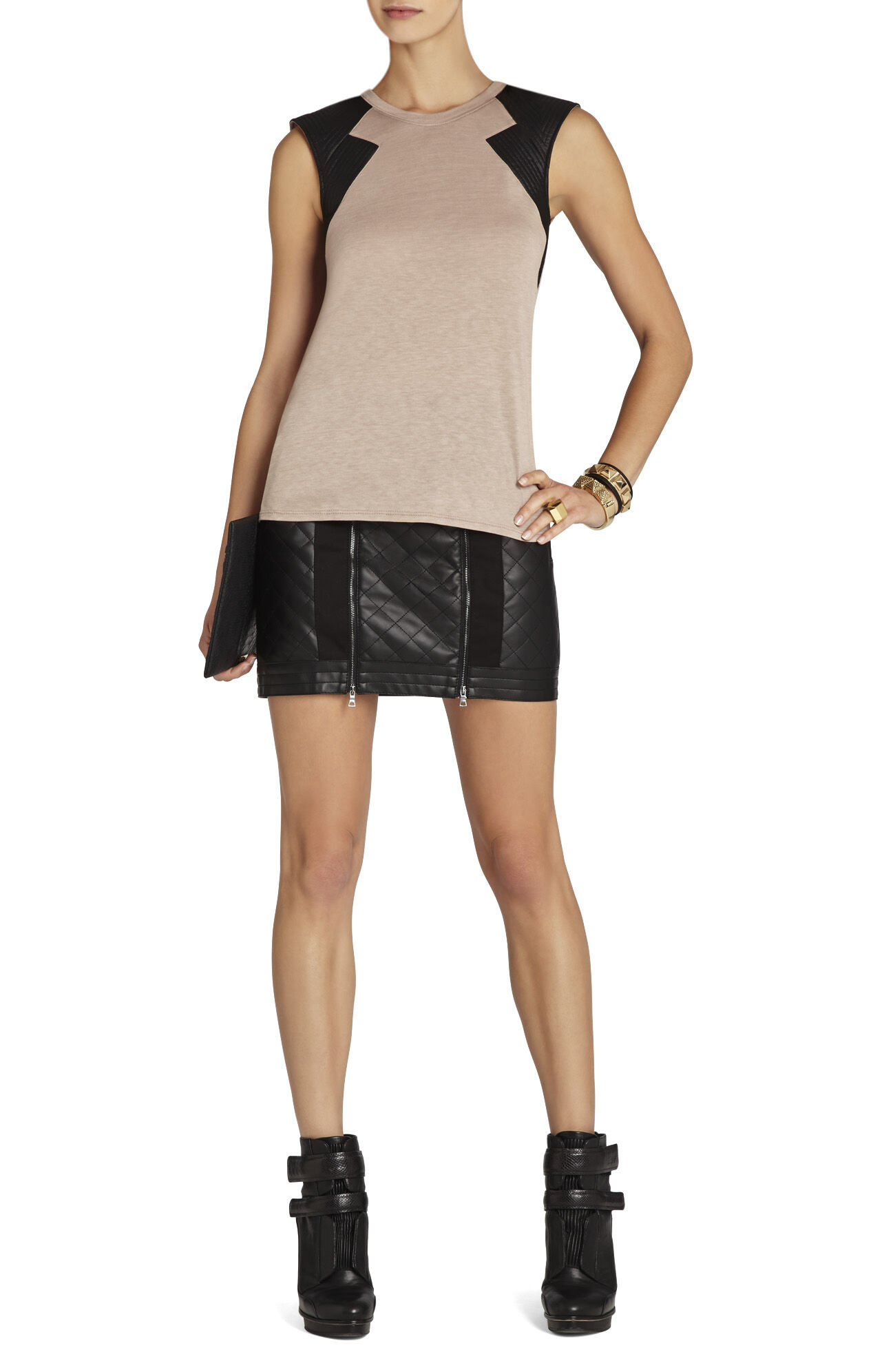 Selby Contrast-Sleeve Top