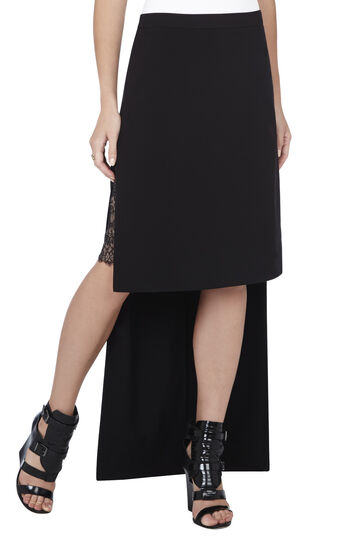 Adrienne High-Low Lace Underlayer Skirt