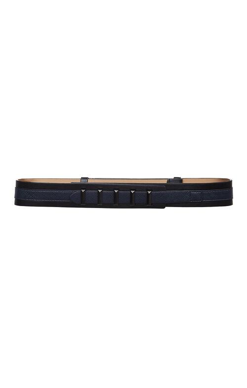 Pyramid-Bar Double-Layer Waist Belt