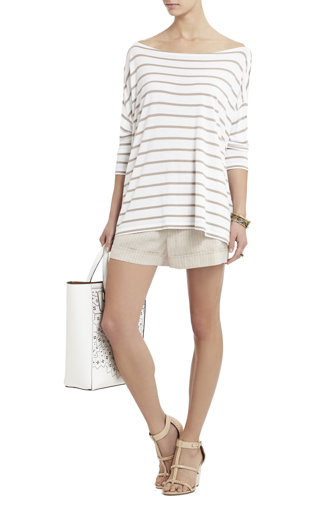 Kori Cuffed Stripe Shorts