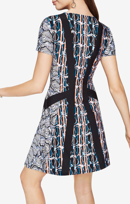 Aleah Paisley Print Dress