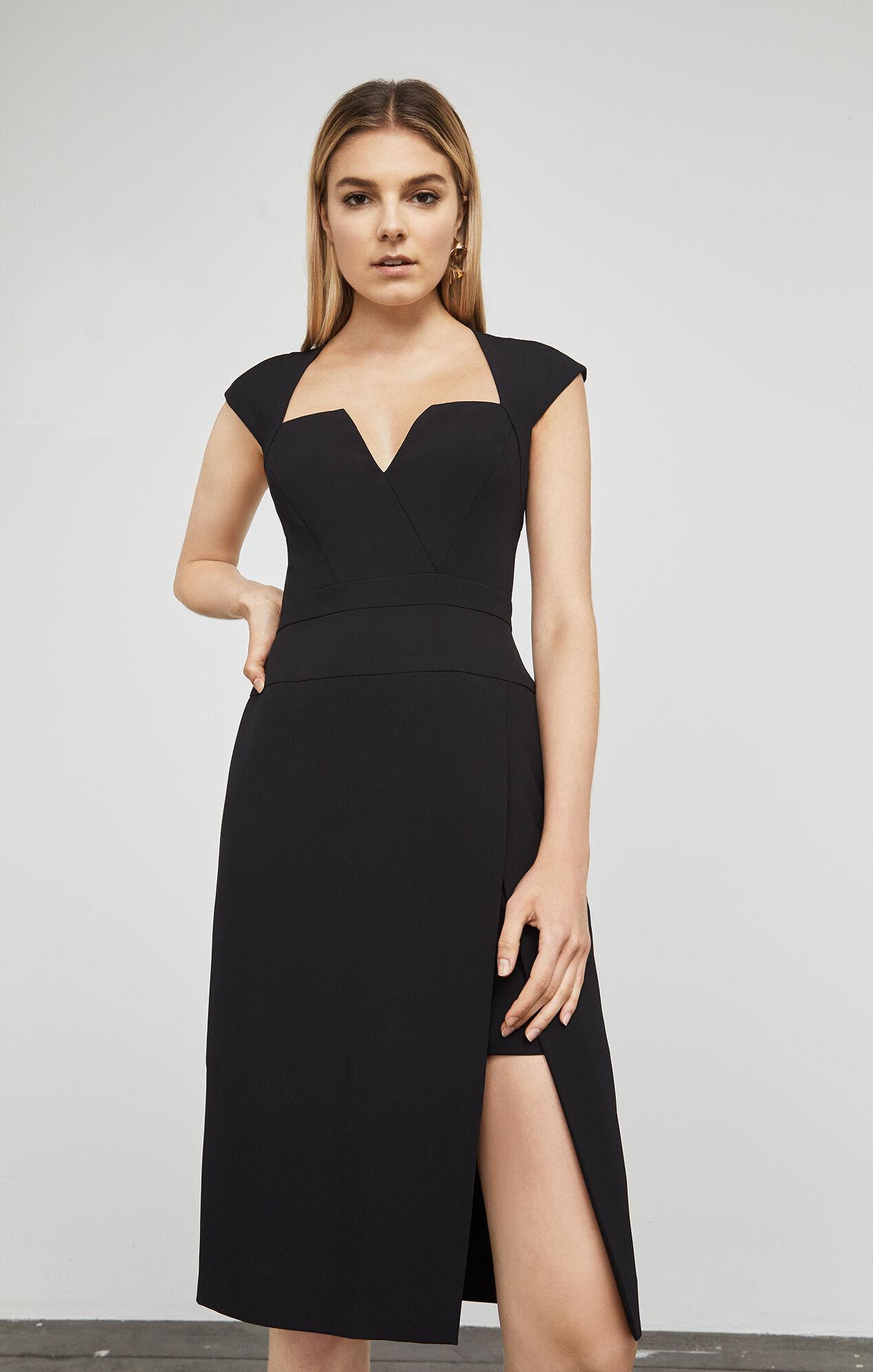 Moss Sleeveless Structured Short Dress