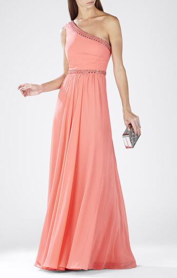 Daniele One-Shoulder Embellished Gown
