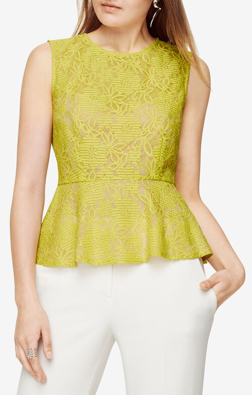 Alecia Lace Peplum Top