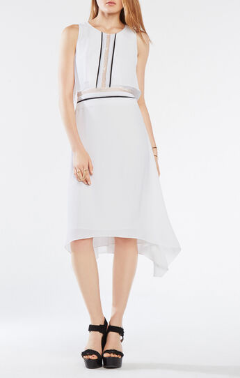 Camden Ruffle-Trim Asymmetrical Dress
