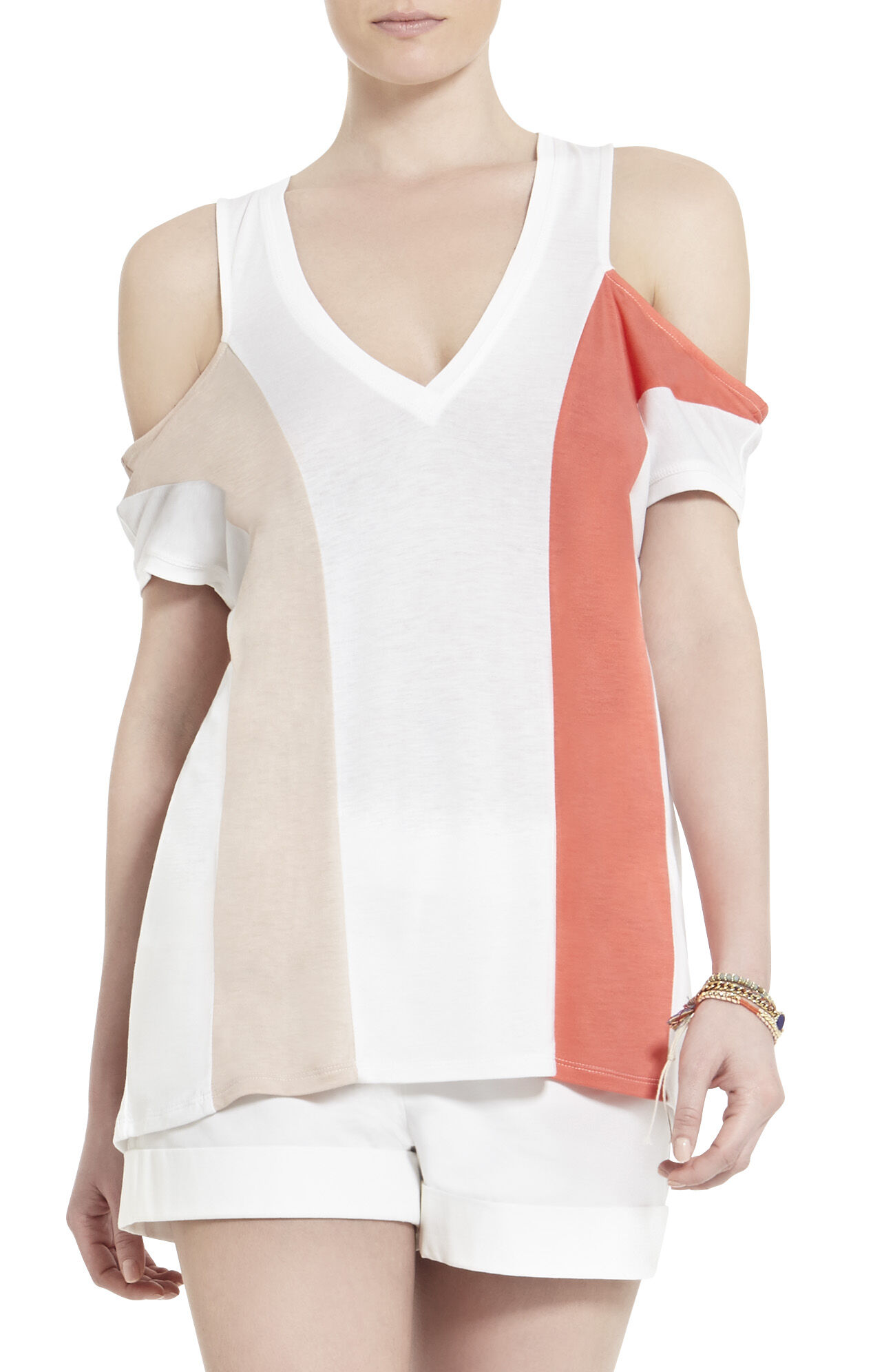 Preslee Color-Blocked Cutout Top