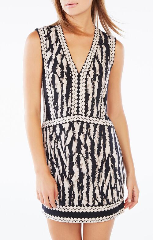 Bridgit Animal Print Tunic Dress