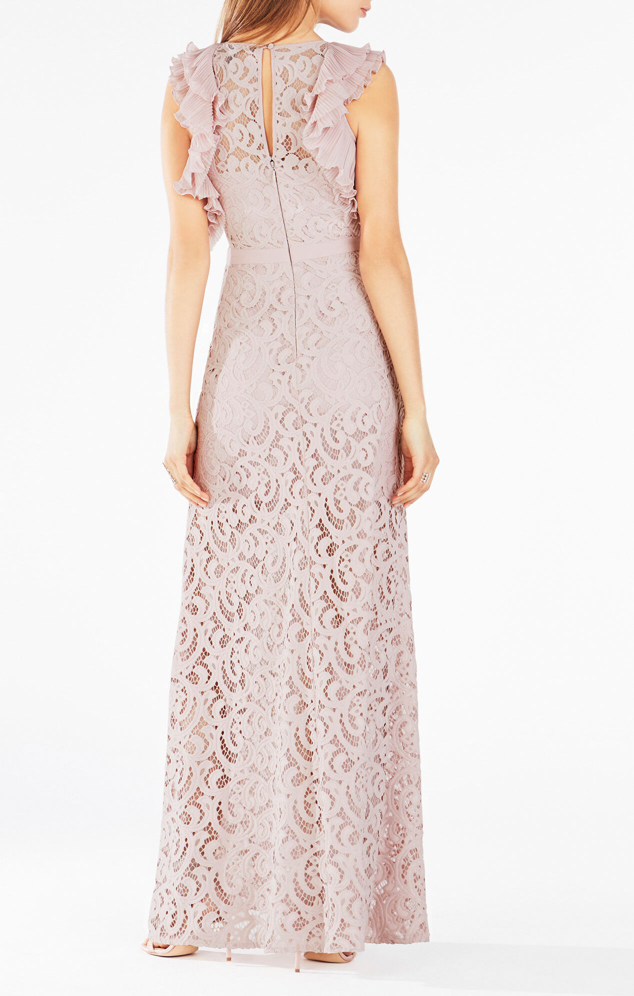 Geanna Lace-Blocked Gown