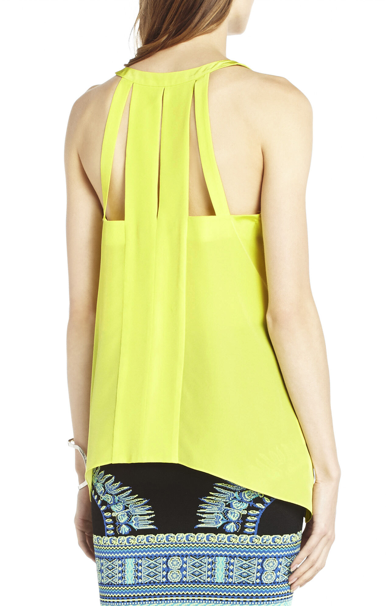 Avalyn Silk Cutout Tank
