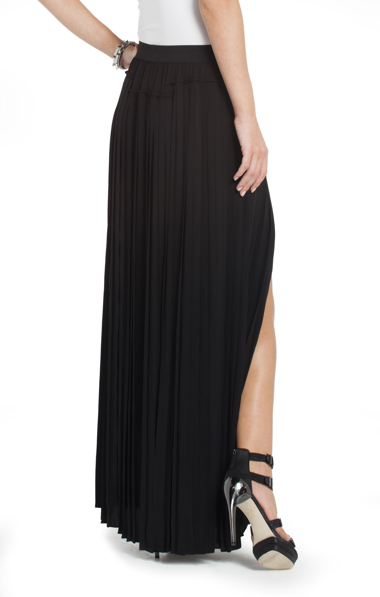 Dillon Pleated Paneled Maxi Skirt