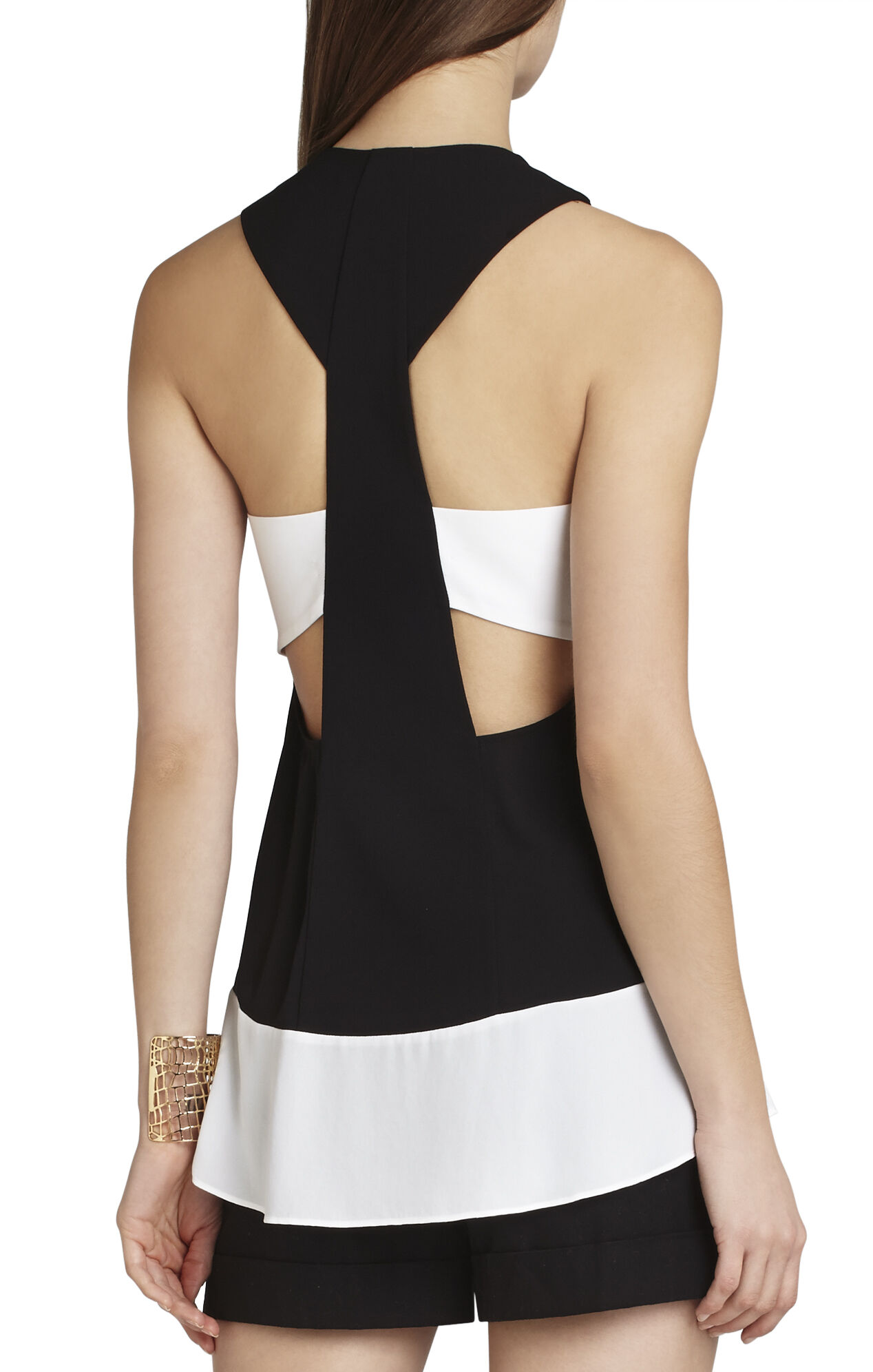 Allison Sleeveless Blocked Top