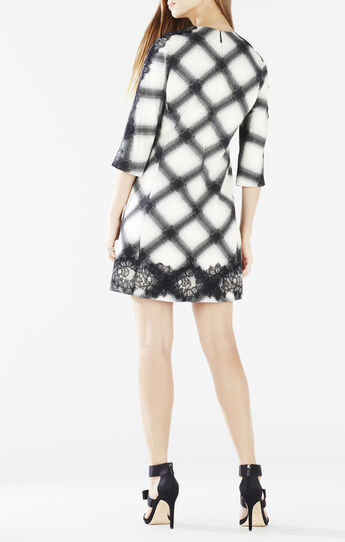 Dorielle Ombre Plaid Jacquard Dress