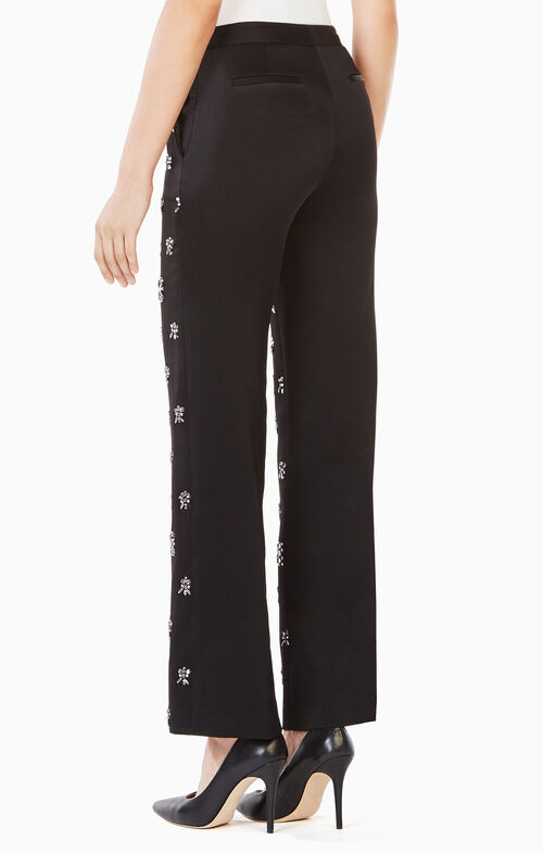 Clayton Crystal-Embellished Trouser