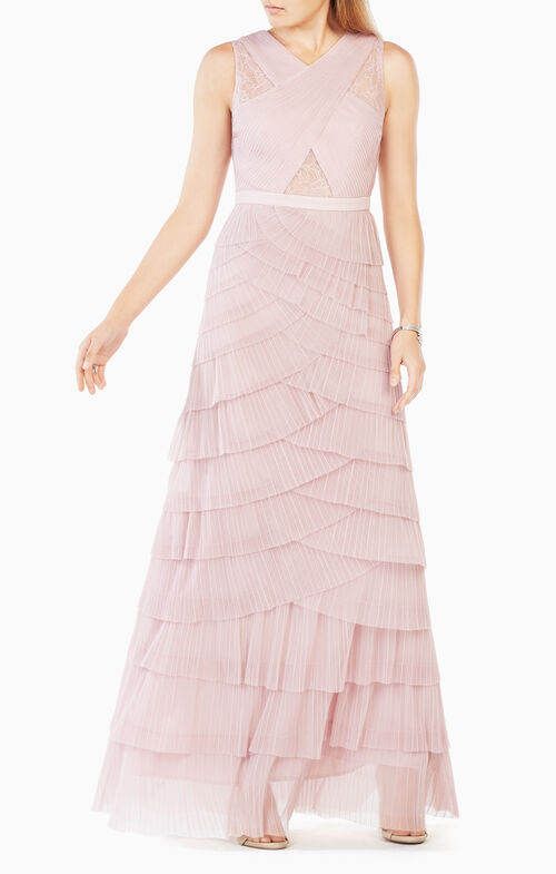 Adreanna Pleated Tulle Gown