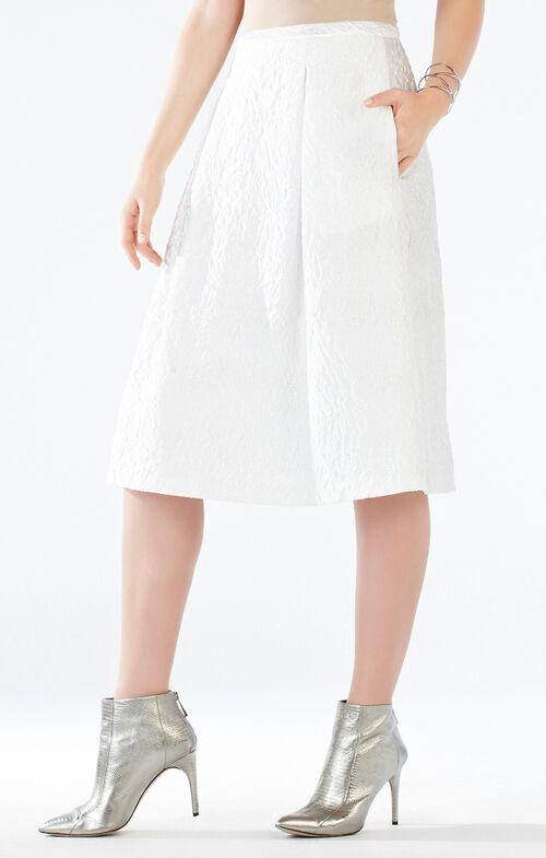 Lenora Floral Jacquard Skirt