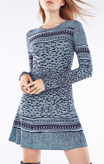 Kennidi Geometric Jacquard Dress