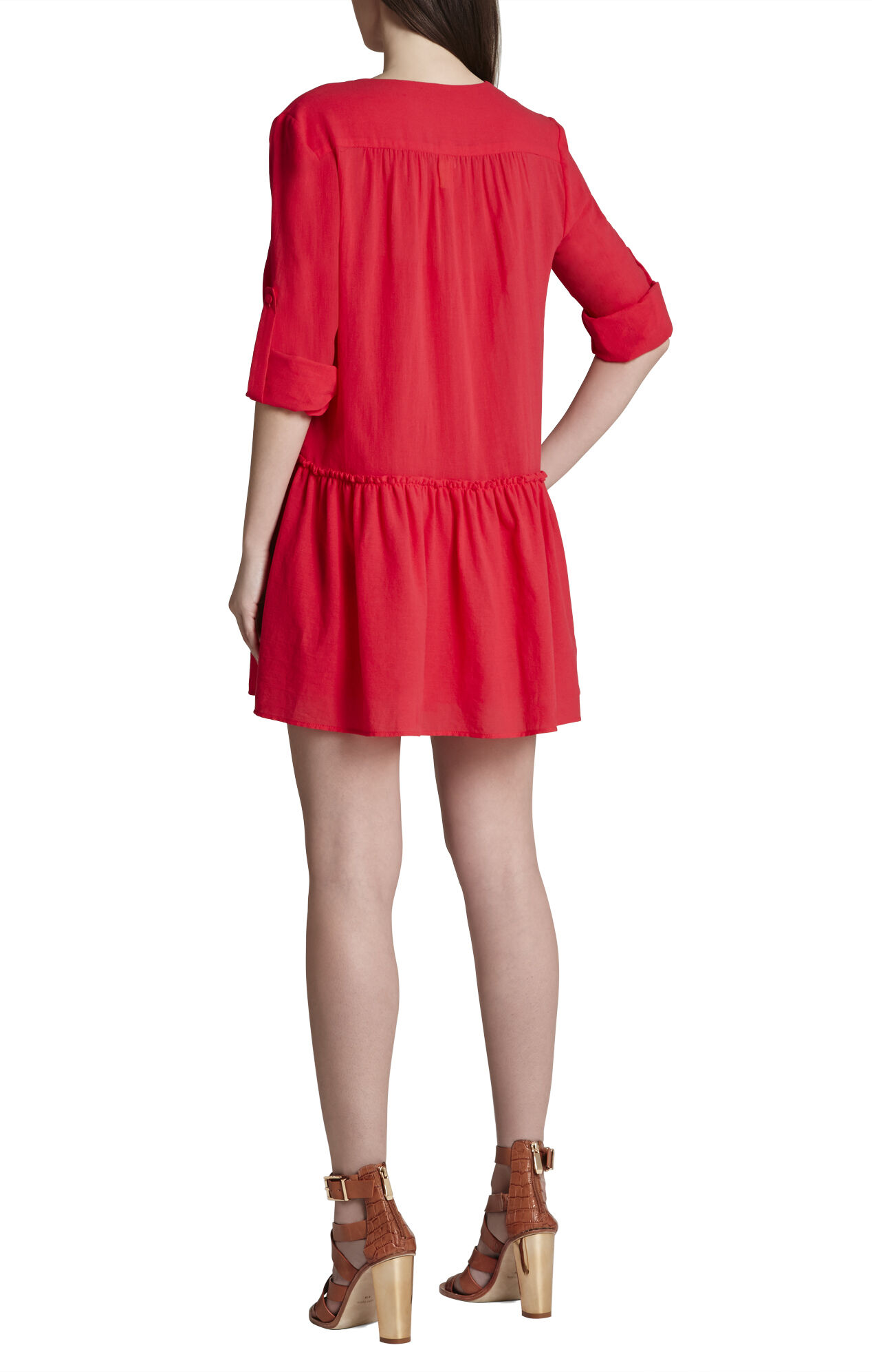 Lauryn Long-Sleeve Peasant Dress