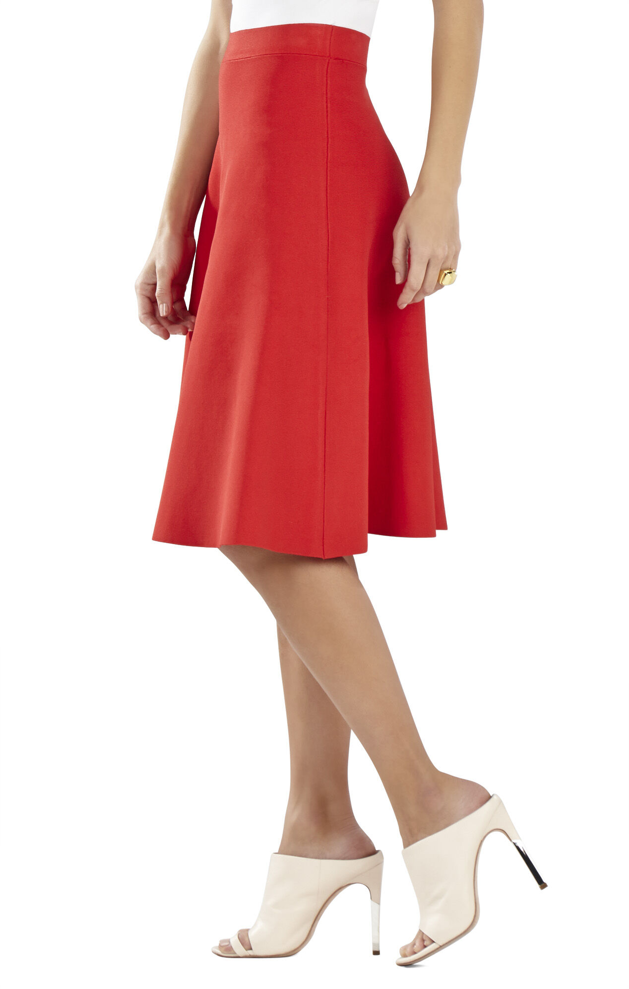 Aimy Mid-Calf A-Line Skirt