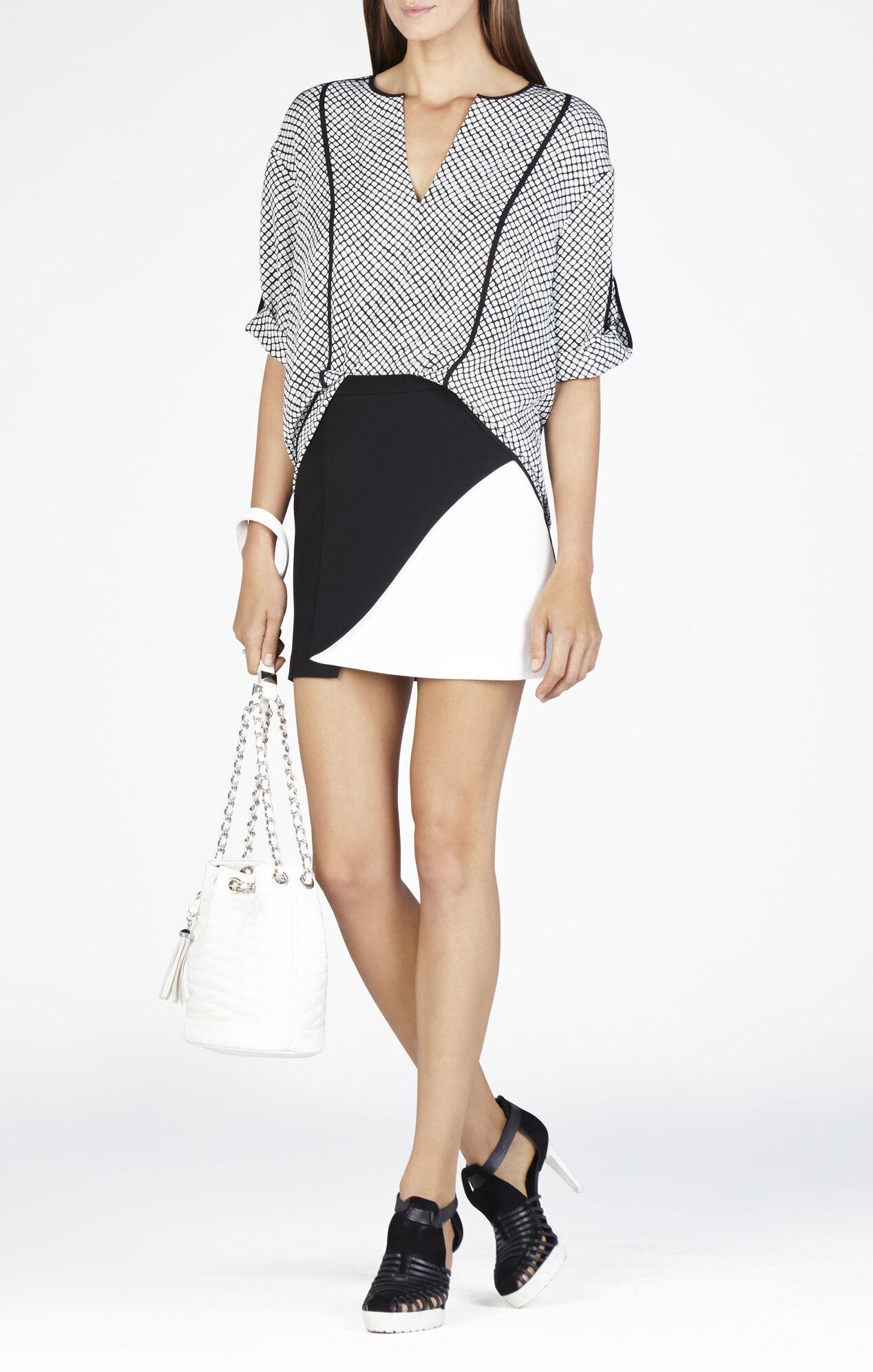Kiri Contrast Petal Miniskirt