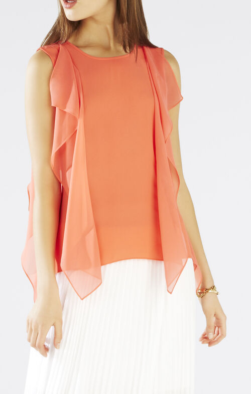 Ivorie Sleeveless Ruffle Top