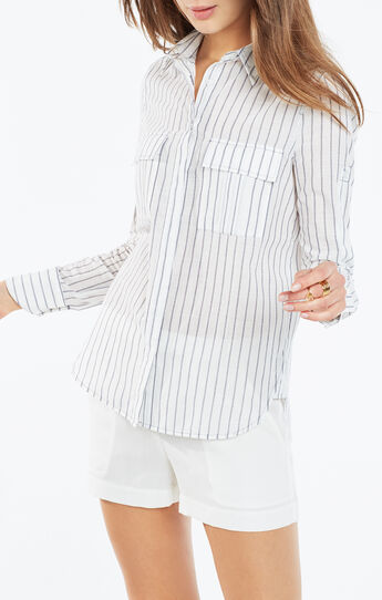 Dieaga Pinstriped Button-Up Shirt