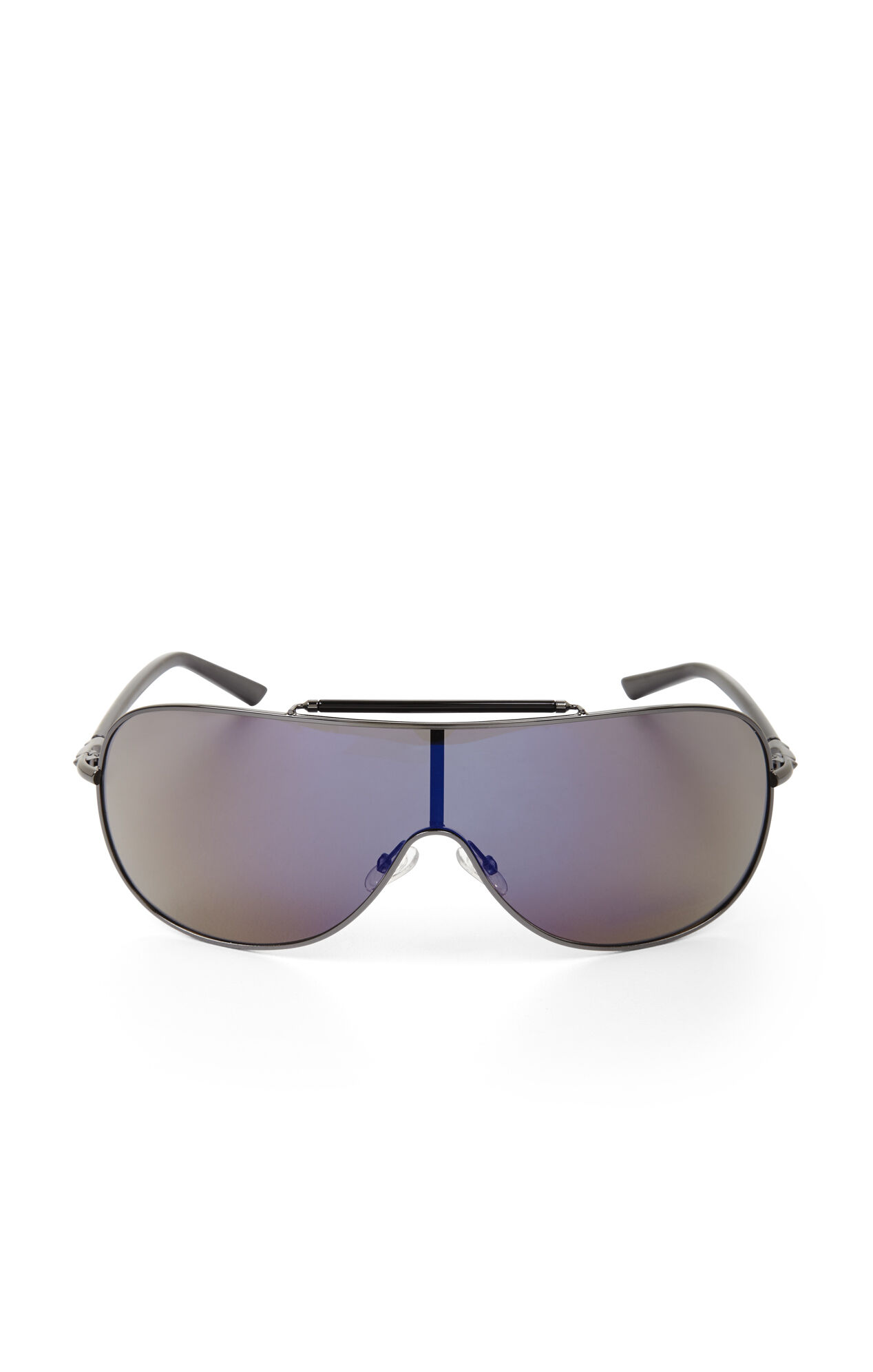 Mirrored Shield Aviator Sunglasses