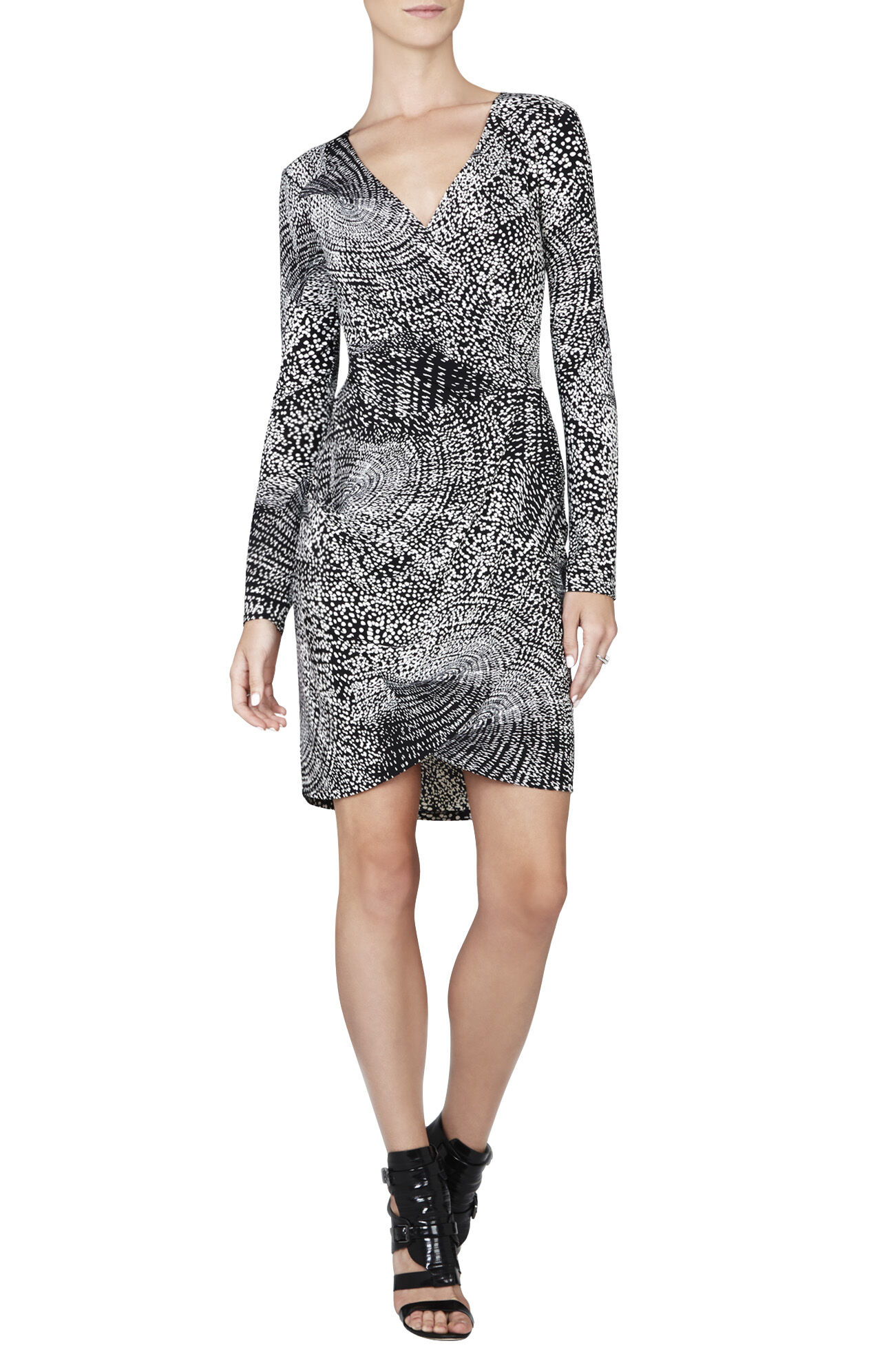Aloysha Faux-Wrap Tulip-Skirt Dress