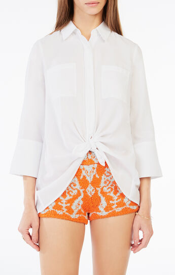 Giovana Tied Button-Up Shirt