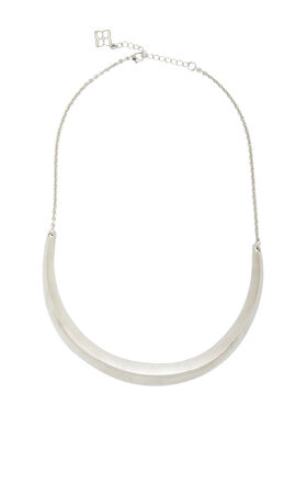 Beveled Metal-Plate Necklace