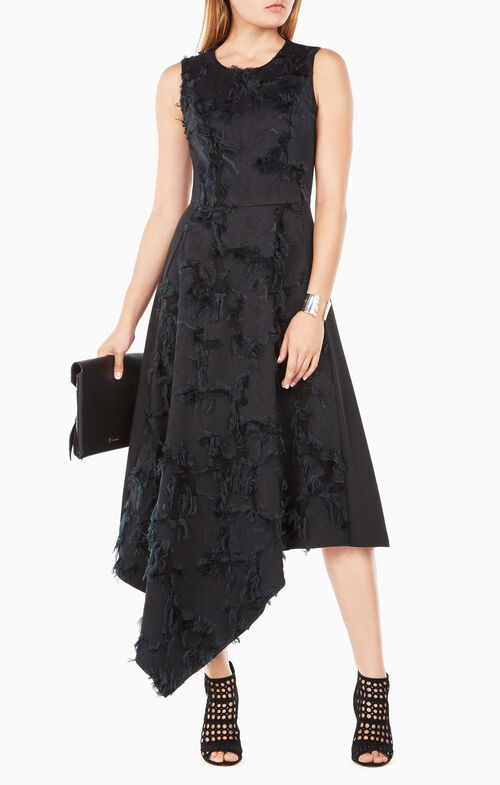 Lauretta Eyelash-Jacquard Dress