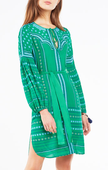 Rene Medallion Print Midi Dress