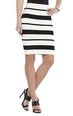 Elizabeth Striped Pencil Miniskirt