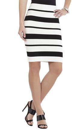 Elizabeth Striped Pencil Miniskirt