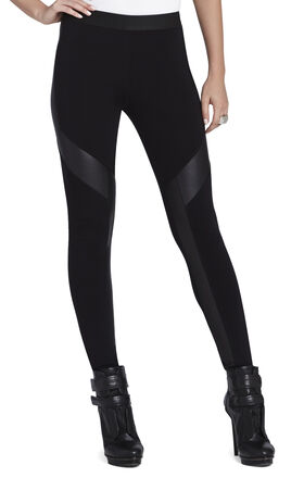 Luca Faux-Leather Contrast Legging