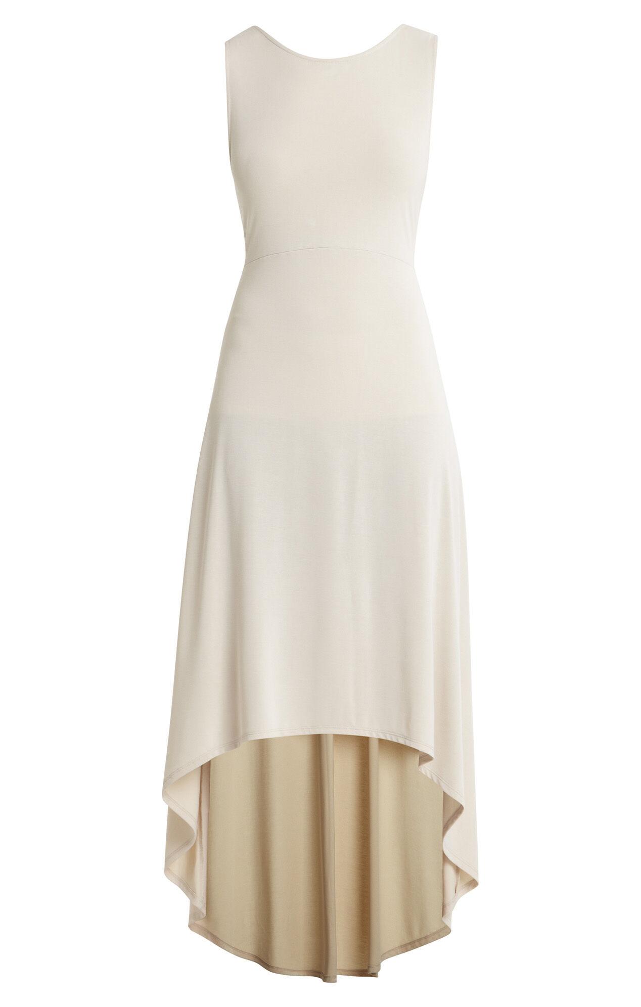 fara highlow twist openback dress