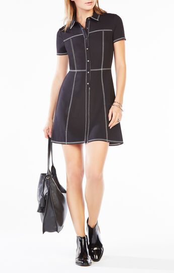 Candyce Collared Ponte Dress