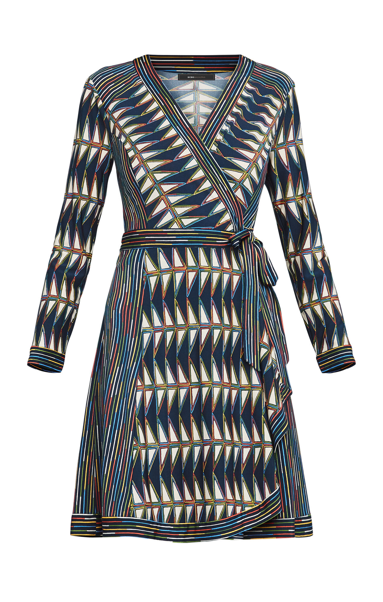 Adele Triangle-Print Wrap Dress