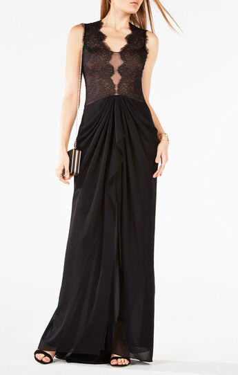 Brandy Lace-Trim Gown