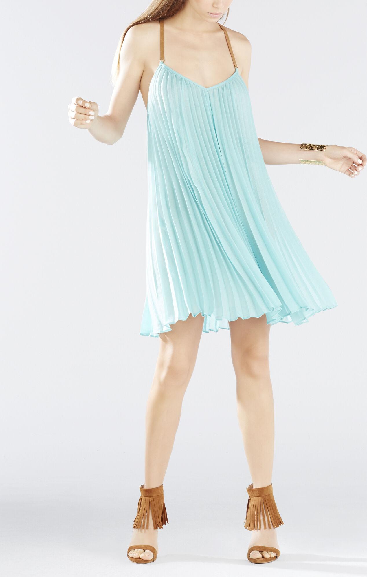 Cayanne Sleeveless Pleated Dress