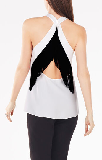 Elayne Fringe-Back Top