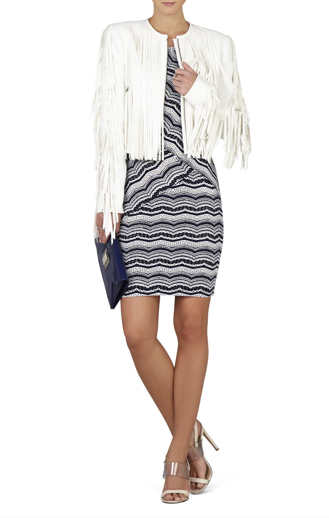 Melysa Long-Sleeve Scalloped Lace Dress