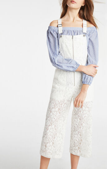 Jamee Floral Lace Overall