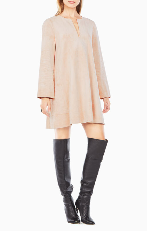 Beritt Faux-Suede Dress