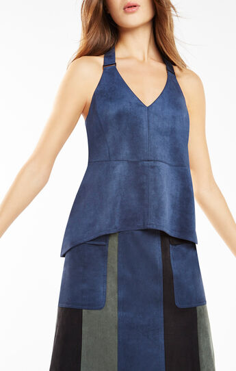 Charlote Faux-Suede Tank Top