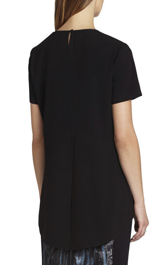 Nalia Short-Sleeve Blocked Top