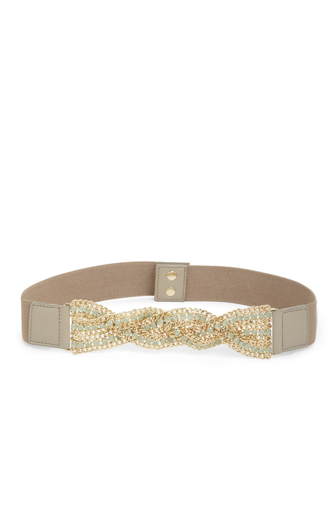 Chain-Detail Waist Belt
