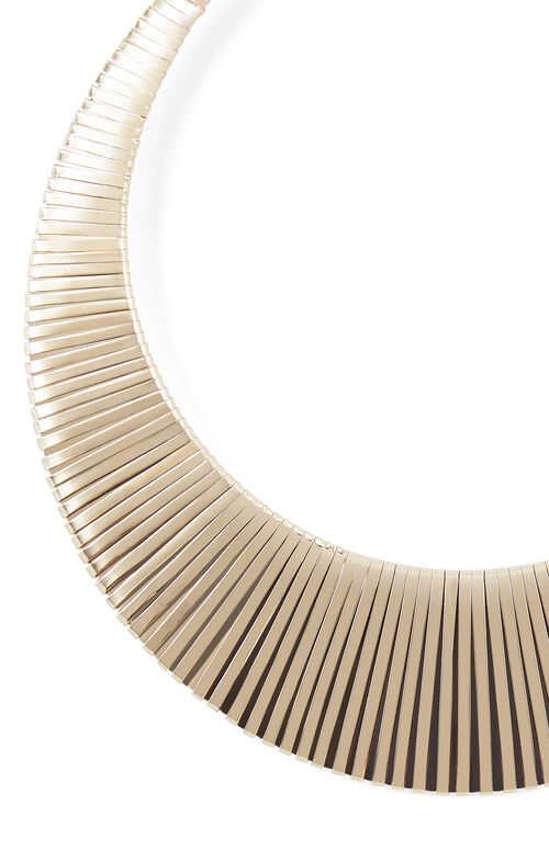 Wrapped Metal Collar Necklace