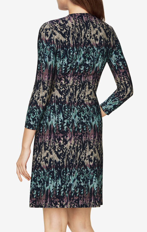 Adele Ikat-Print Wrap Dress